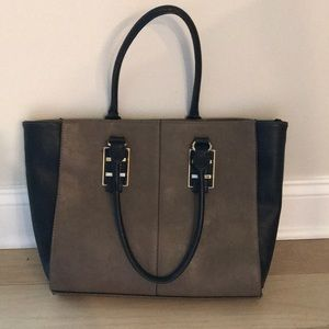 Black and beige Aldo tote